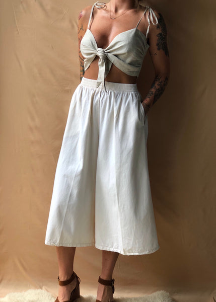 Ivory Cotton Culottes