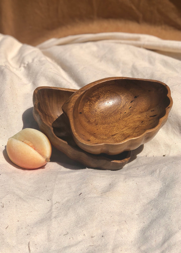 Wooden Shell Bowls