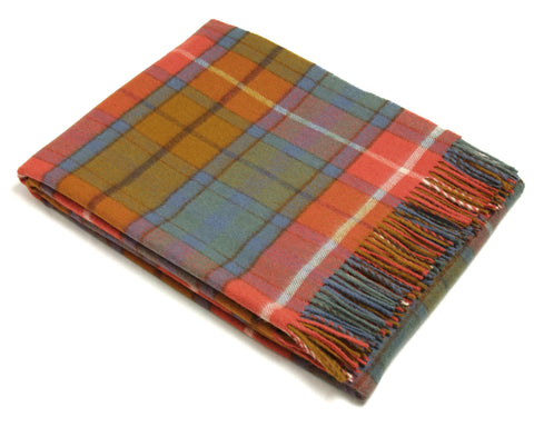 Bronte Tartan Throw Blanket - Merino Wool (Antique Buchanan)