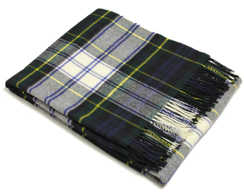 Bronte Tartan Throw Blanket - Merino Wool (Dress Gordon)