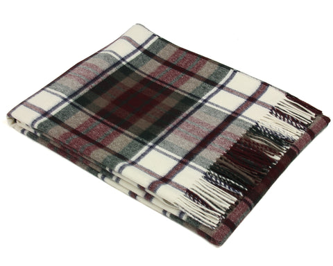 Bronte Tartan Throw Blanket - Merino Wool (Dress Macduff)