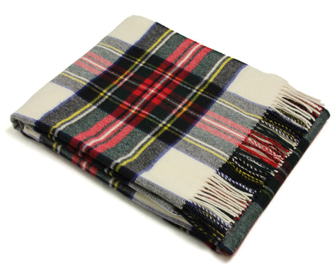 Bronte Tartan Throw Blanket - Merino Wool (Dress Stewart)