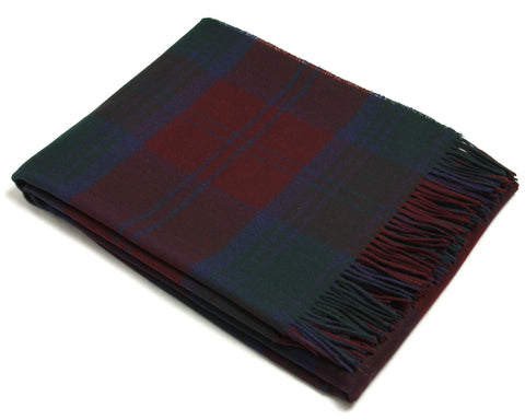 Bronte Tartan Throw Blanket - Merino Wool (Lindsay)