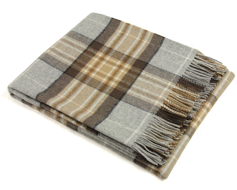 Bronte Tartan Throw Blanket - Merino Wool (Mckeller)