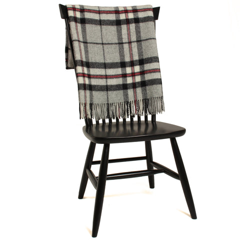 Bronte Tartan Throw Blanket - Pure New Wool (Gray Thompson)
