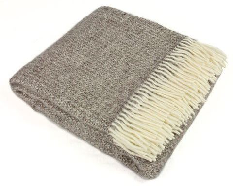 Tweedmill Throw Blanket - Pure New Wool - Illusion (Natural)
