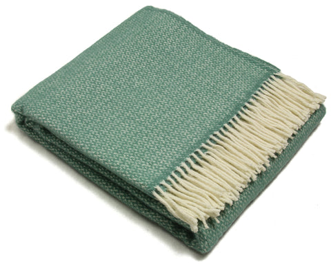 Tweedmill Throw Blanket - Pure New Wool - Illusion (Sea Green)