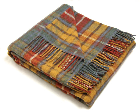 Tweedmill Tartan Throw Blanket - Pure New Wool (Antique Buchanan)