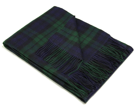 Tweedmill Tartan Throw Blanket - Lambswool (Black Watch)