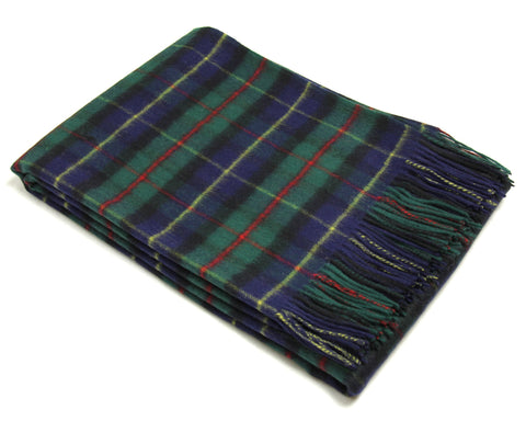 Tweedmill Tartan Throw Blanket - Lambswool (Hunting McLeod)