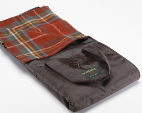 Wool Picnic Blanket w/ Waterproof Backing (Antique Royal Stewart)
