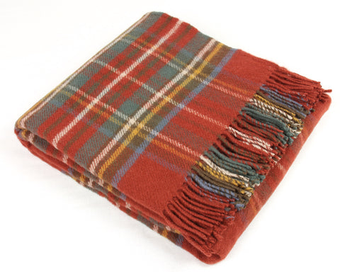 Tweedmill Tartan Throw Blanket - Pure New Wool (Antique Royal Stewart)