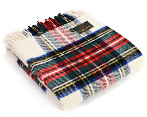 Tweedmill Tartan Throw Blanket - Pure New Wool (Dress Stewart)
