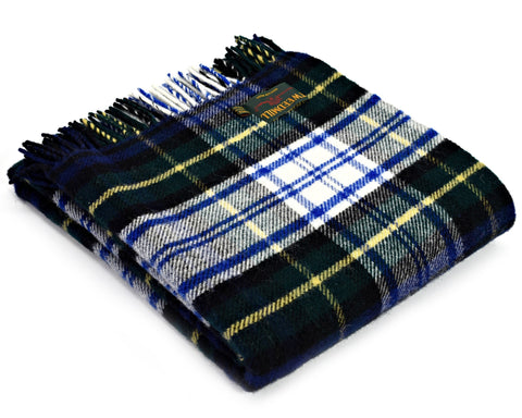 Tweedmill Tartan Throw Blanket - Pure New Wool (Dress Gordon)
