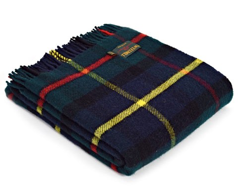 Tweedmill Tartan Throw Blanket - Pure New Wool (Hunting McLeod)