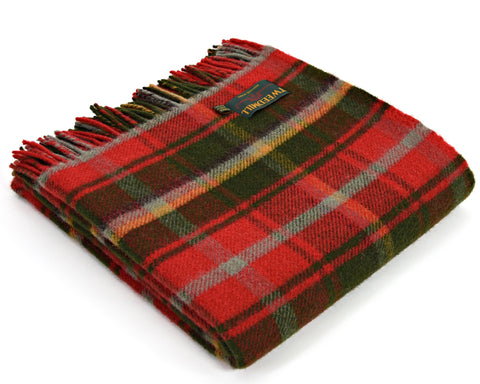 Tweedmill Tartan Throw Blanket - Pure New Wool (Dark Maple)