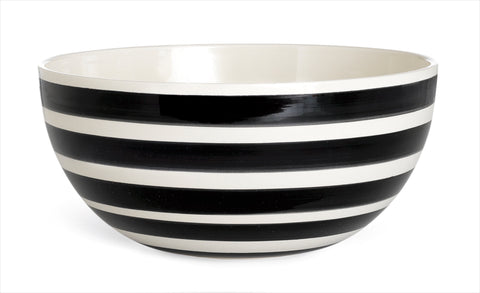 Kahler Omaggio Ceramic Serving Bowl - Medium 200mm (7.9 In.) (Black)