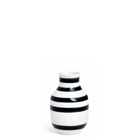 Kahler Omaggio Small Ceramic Vase - White / Black