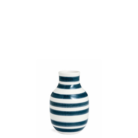 Kahler Omaggio Small Ceramic Vase - White / Granite Gray