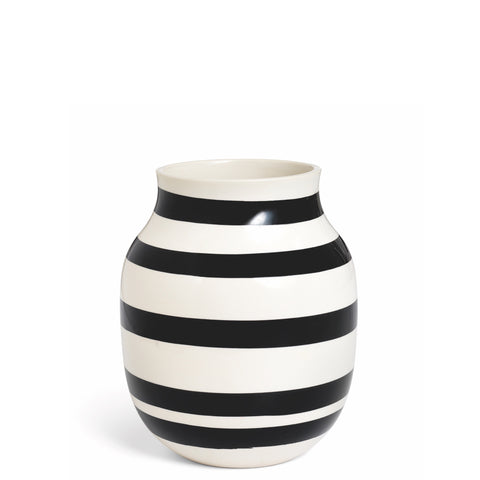 Kahler Omaggio Medium Ceramic Vase - White / Black