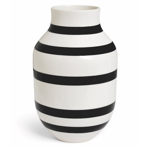 Kahler Omaggio Large Ceramic Vase - White / Black