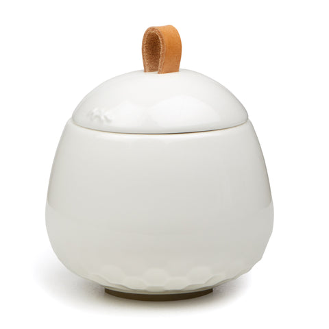 Kahler Mellibi Bathroom Storage Canister / Storage Jar - Small (White)