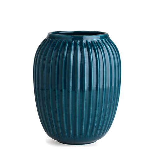 Kahler Hammershoi - Medium Large Ceramic Vase - Petrol (Blue Green)