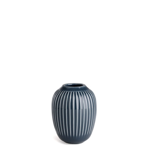 Kahler Hammershoi - Small Ceramic Vase - Anthacite (Dark Gray)