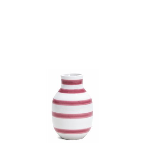 Kahler Omaggio Small Ceramic Vase - White / Rose Pink