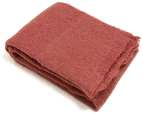 Mohair Throw Blanket by Cape Mohair (Marsala)