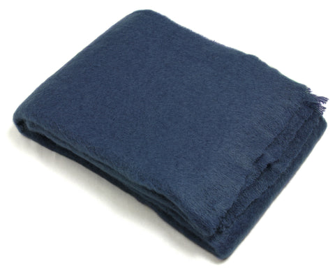 Mohair Throw Blanket by Cape Mohair (Midnight Blue)