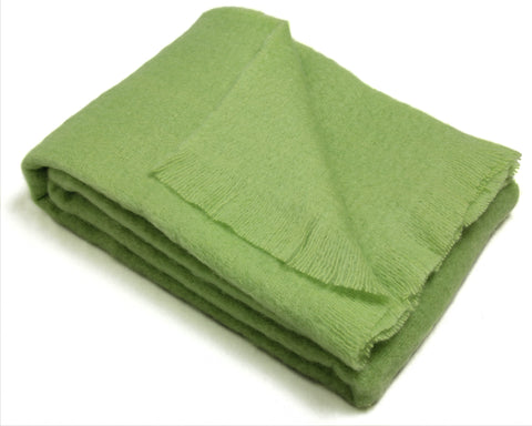Mohair Throw Blanket by Cape Mohair (Moss Green)