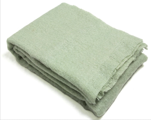 Mohair Throw Blanket by Cape Mohair (Avocado green)