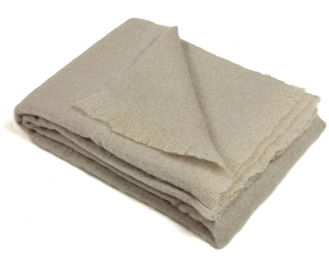 Mohair Throw Blanket by Cape Mohair (Champagne - Light Beige)
