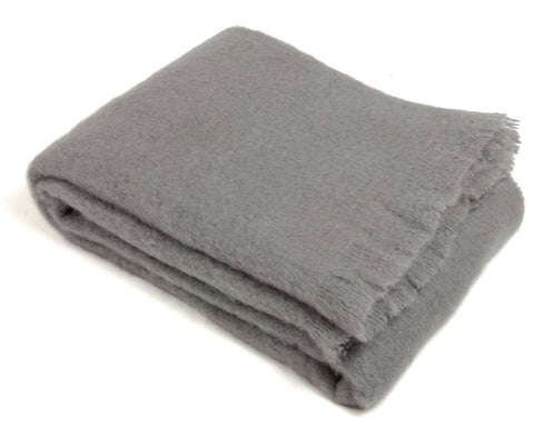 Mohair Throw Blanket by Cape Mohair (Cape Mist - Silver Gray)