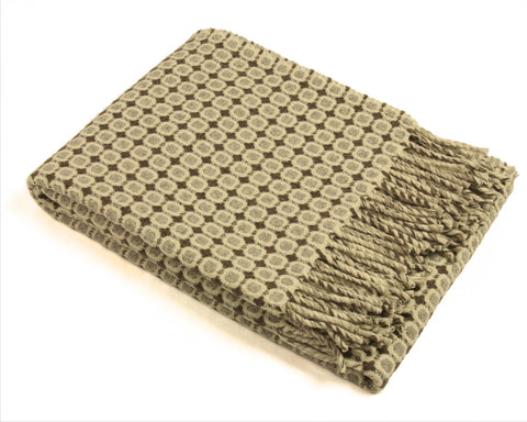 Wool Throw Blanket by Burel Factory - Vintage (Brown)