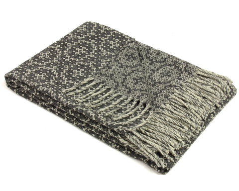 Wool Throw Blanket by Burel Factory - Timeless (Dark Gray)