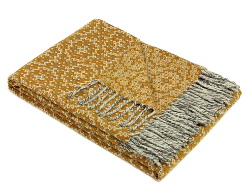 Wool Throw Blanket by Burel Factory - Timeless (Yellow)