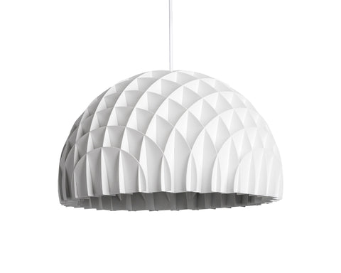 Modern Danish Design Pendant Light by LAWA Design - 12 In. (White)
