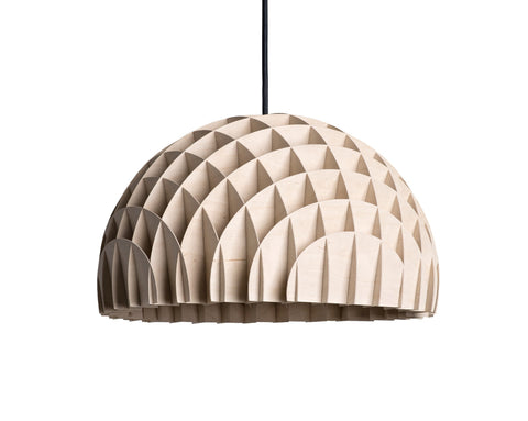 Modern Danish Design Pendant Light by LAWA Design - 12 In. (Wood)
