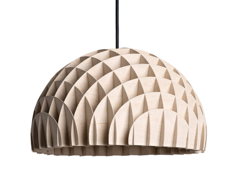 Modern Danish Design Pendant Light by LAWA Design - 16 In. (Wood)