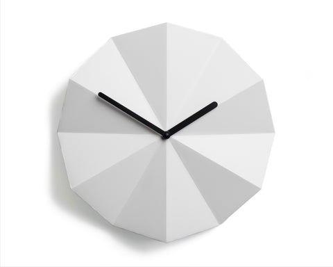 Modern Danish Design Wall Clock by LAWA Design - 11 Inch (White)