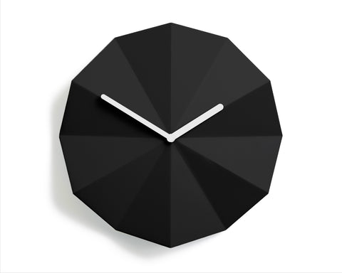 Modern Danish Design Wall Clock by LAWA Design - 11 Inch (Black)