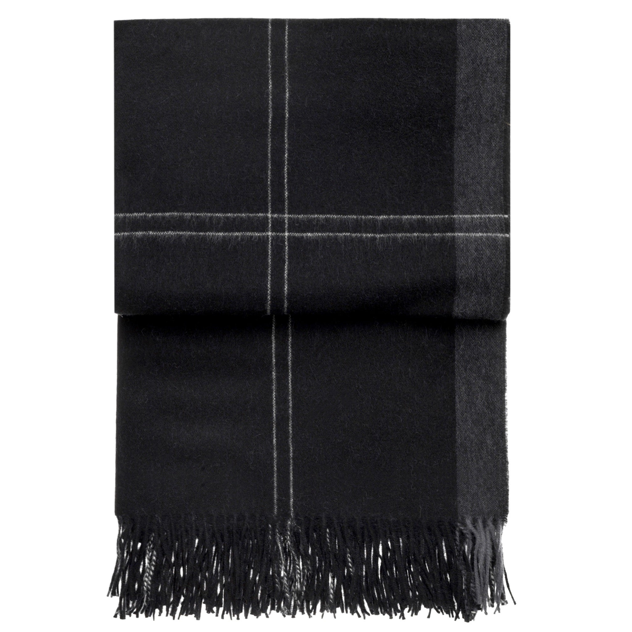 elvang latitude plaid alpaca  wool throw blanket (black)  tredoni - elvang latitude plaid alpaca  wool throw blanket (black)