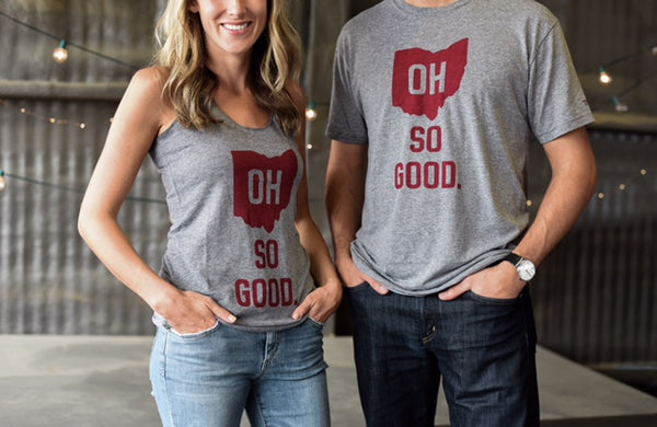 OH SO GOOD.™  gray and red tank/tee