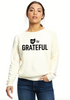 OH SO GRATEFUL Ladies' Raglan Pullover Long Sleeve Crewneck Sweatshirt