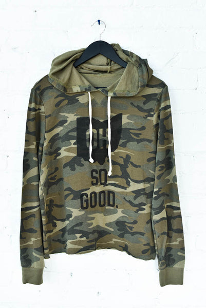 OH SO GOOD. Women's Camo Hoodie
