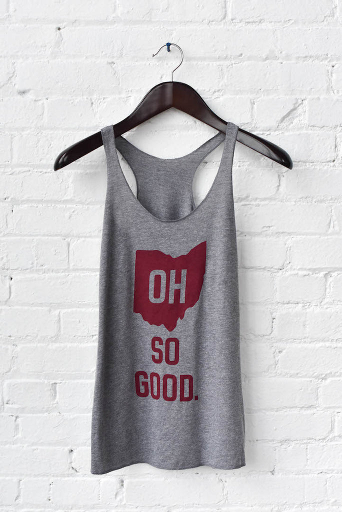 OH SO GOOD. women's racerback tank