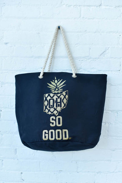 OH SO GOOD. pineapple beach tote