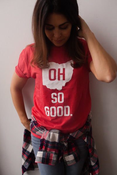 OH SO GOOD. unisex tee (red)